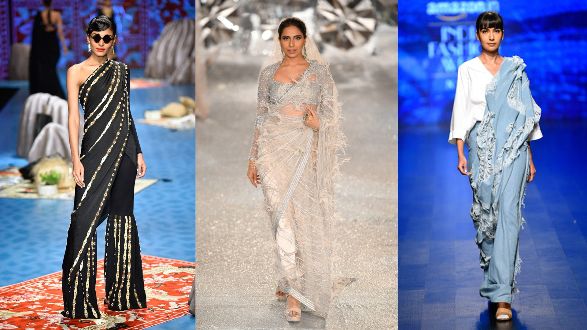 16 experimental saris that will help you up your sartorial game