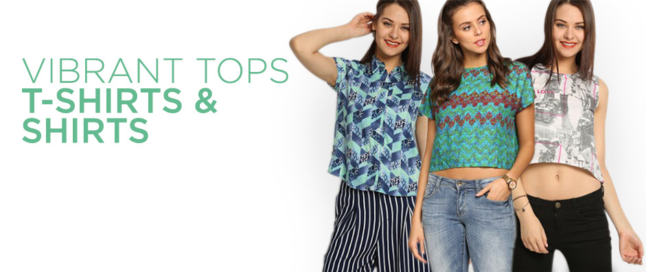 Vibrant tops, t-shirts & shirts