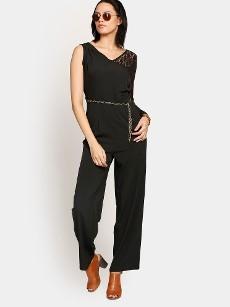 Harpa Women Black Regular Fit Jumpsuit