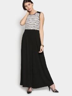 Deal Jeans Women Black Striped Jumpsuit