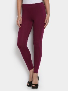 abof Women Purple LIVA Slim Fit Leggings