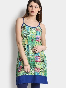 Shree Women Multicolor LIVA Printed Regular Fit Tunic