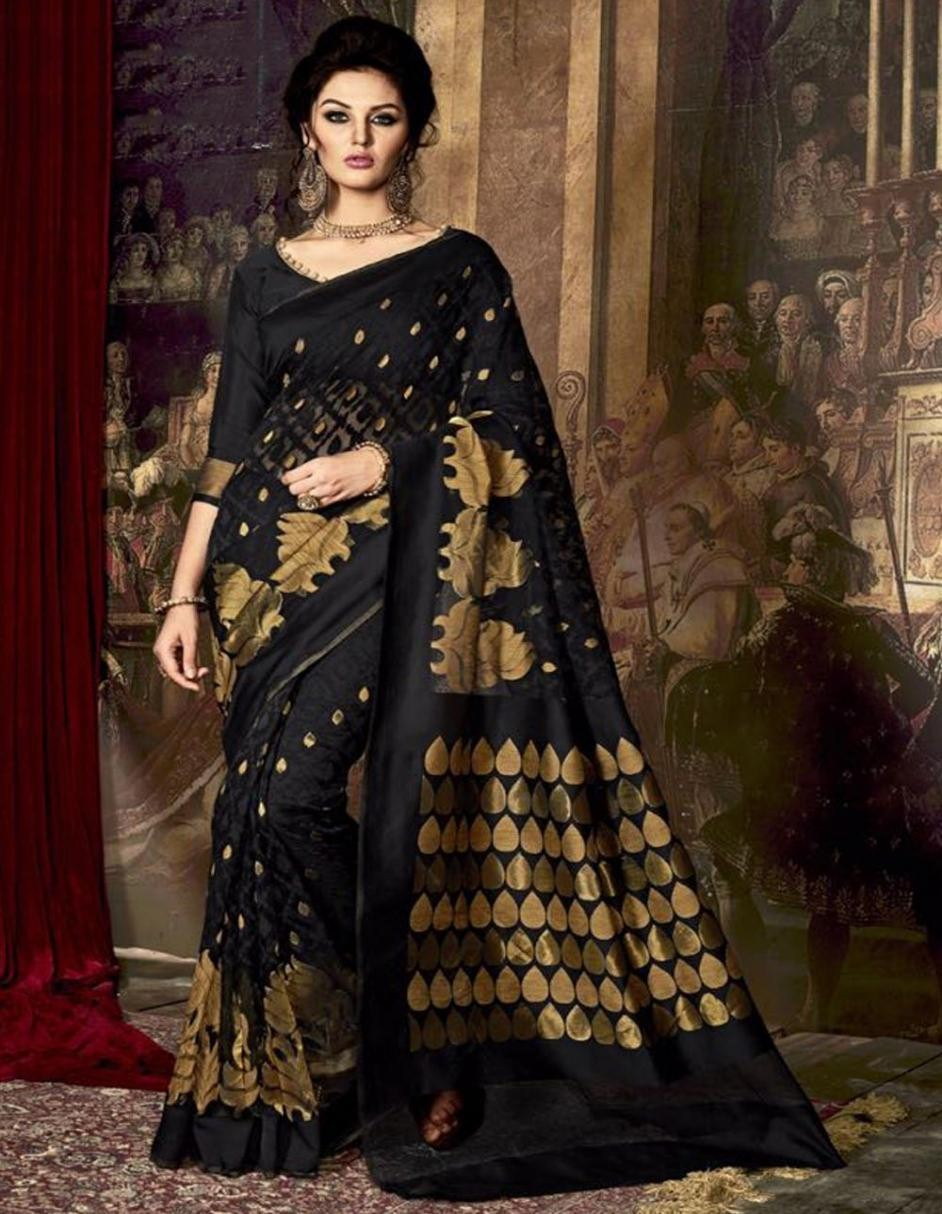 LIVA-2018-Fashion-Wedding-Sarees-Try-The-Glam Duo-Black-And-Gold