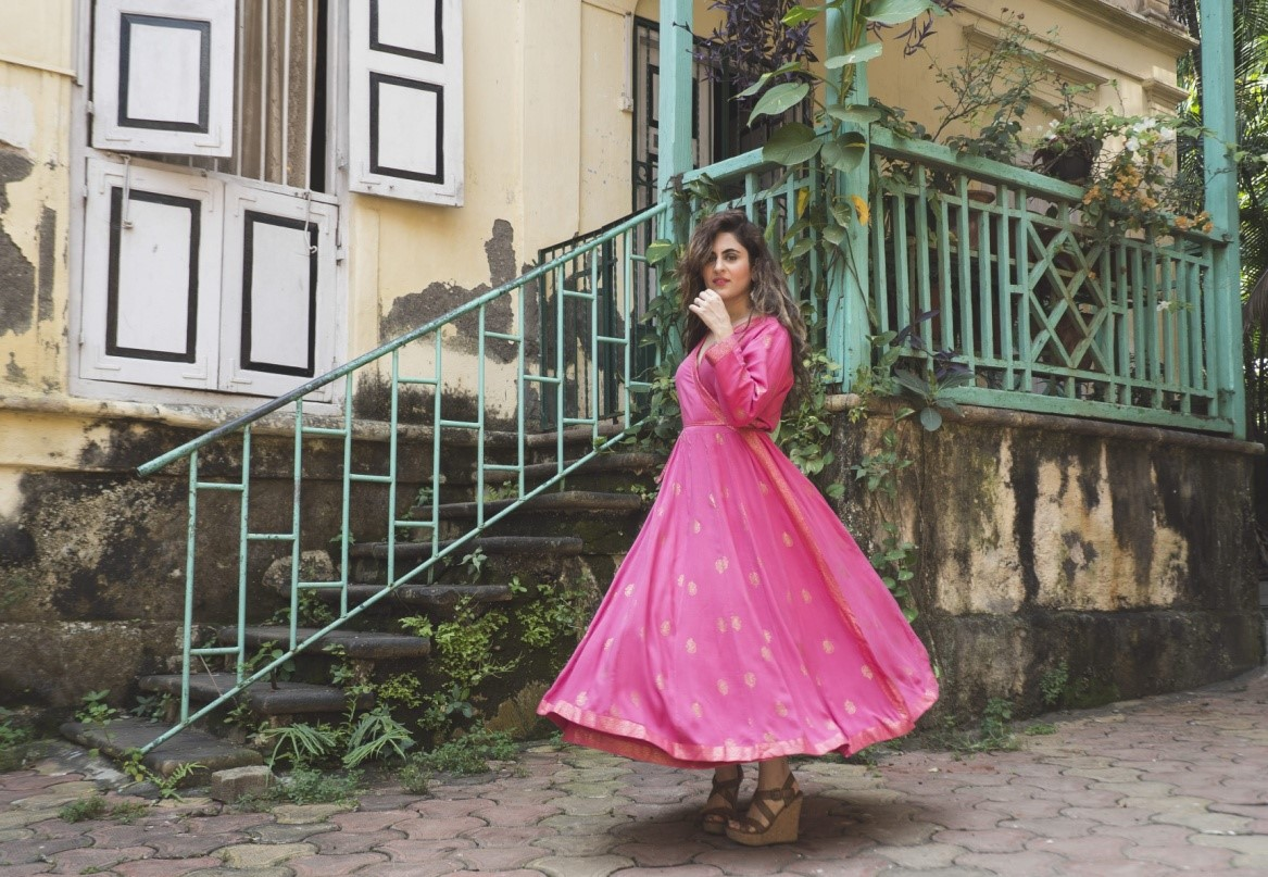 Breezy Fabric Pink Dress